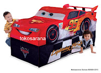 3 Disney PIXAR Cars 2 Lightning McQueen Vehicle PlayHut