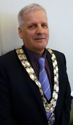 Coun Donald Campbell, Brigg Town Mayor 2018-2019 pictured in the Angel Suite