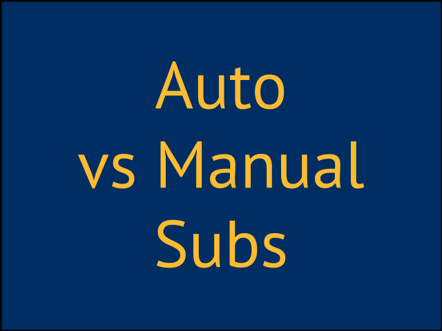 Auto vs Manual Substitutions in NBA2K - Coach2K