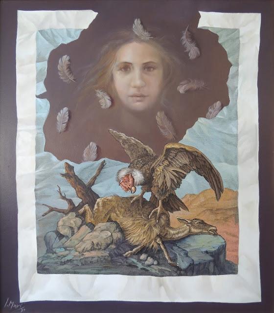 José Marí pintura surrealista arte amimales águila