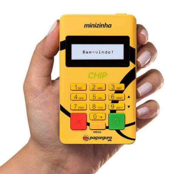 Imagem da Maquininha de Cartão Minizinha Chip com 50% de Desconto