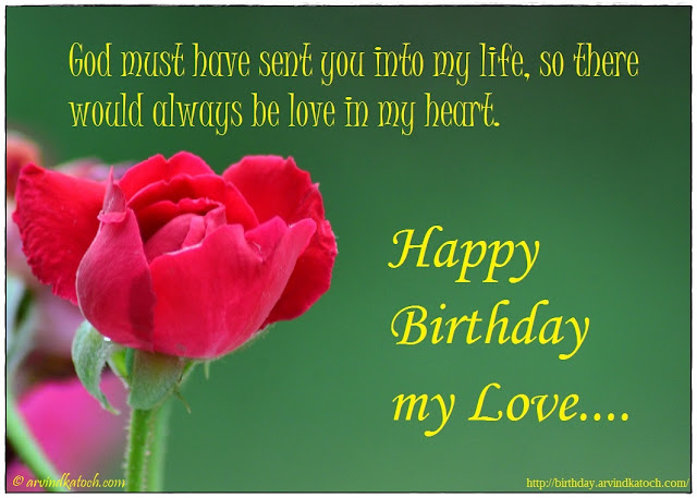 Beautiful, Red Rose, Birthday Card, God, life, heart, love,