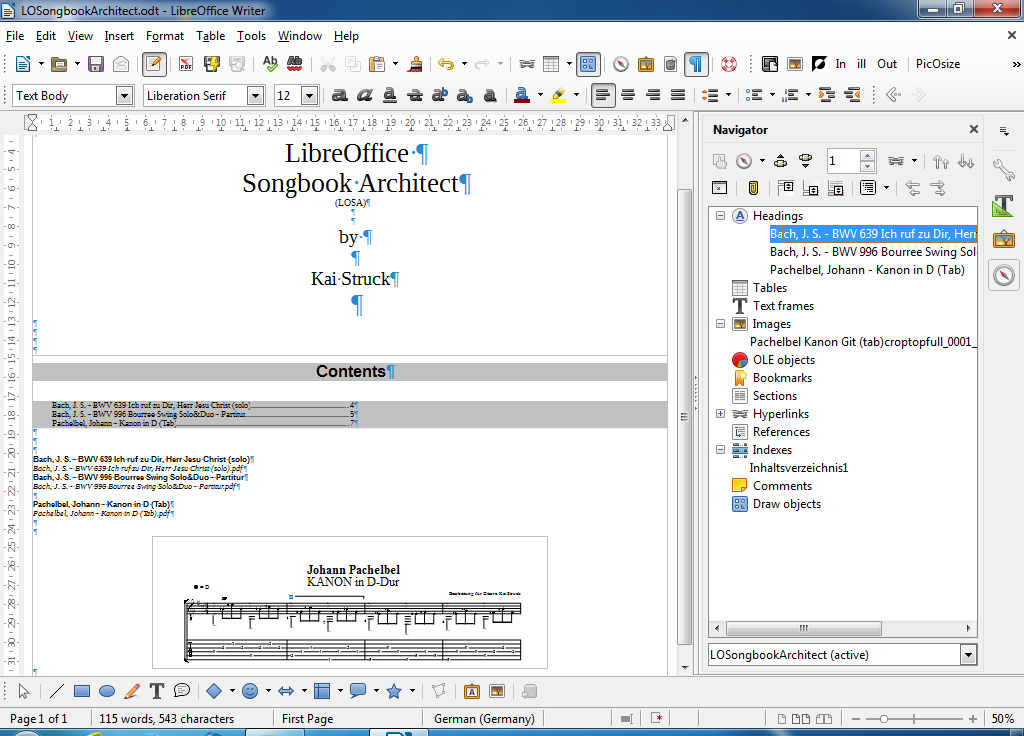 struckkai: LibreOfficeSongbookArchitect