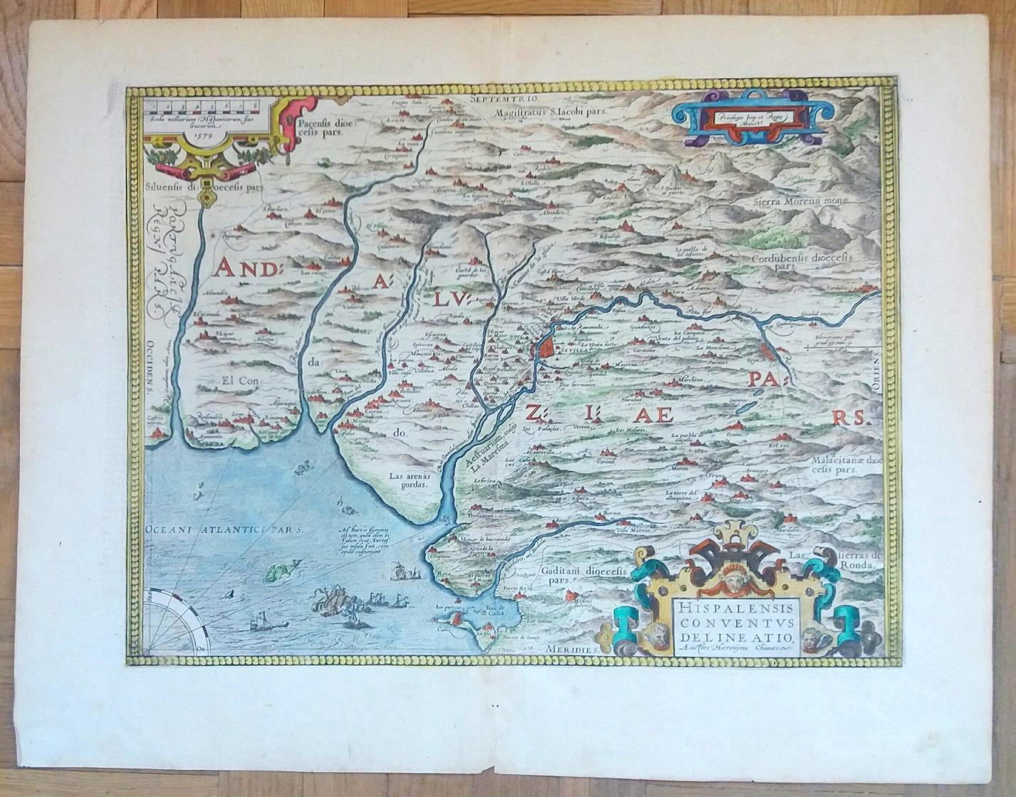 Mapa antiguo andalucía Ortelius | Mapas antiguos Cartografía histórica