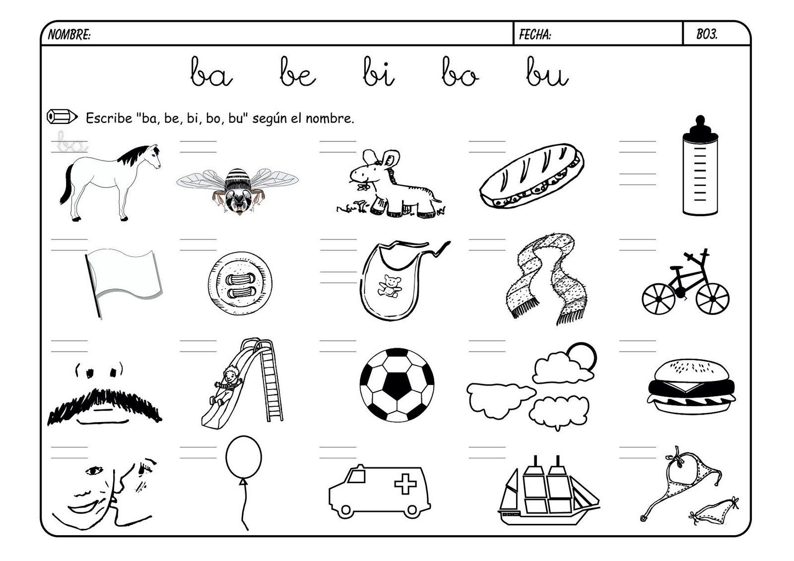 Apoyoescolar marian inicio a la lectoescritura las for La b b