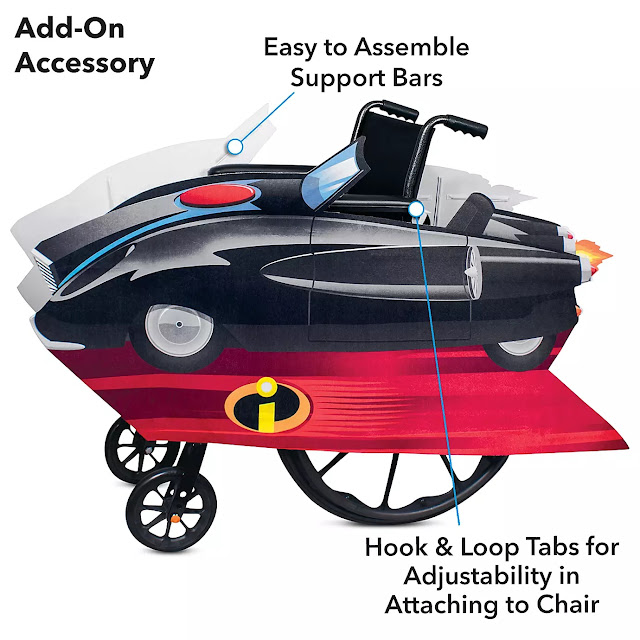 Disney Pixar Incredimobile Wheelchair Cover Set by Disguise – Incredibles 2