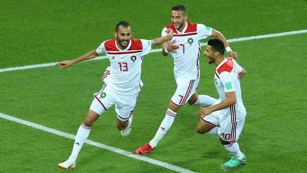 الهدف الأول للمغرب ضد الإسبان 2018 Le premier but du Maroc contre les Espagnols