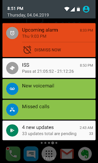 notifications from Lume phone
