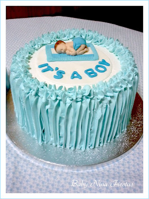 tarta baby shower niño