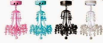 Not Only Are There Chandeliers But Also Lamps From Locker Lookz They Come In A Variety Of Fun Colors