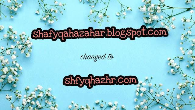 ALHAMDULILLAH DAH JADI SHFYQHAZHR.COM
