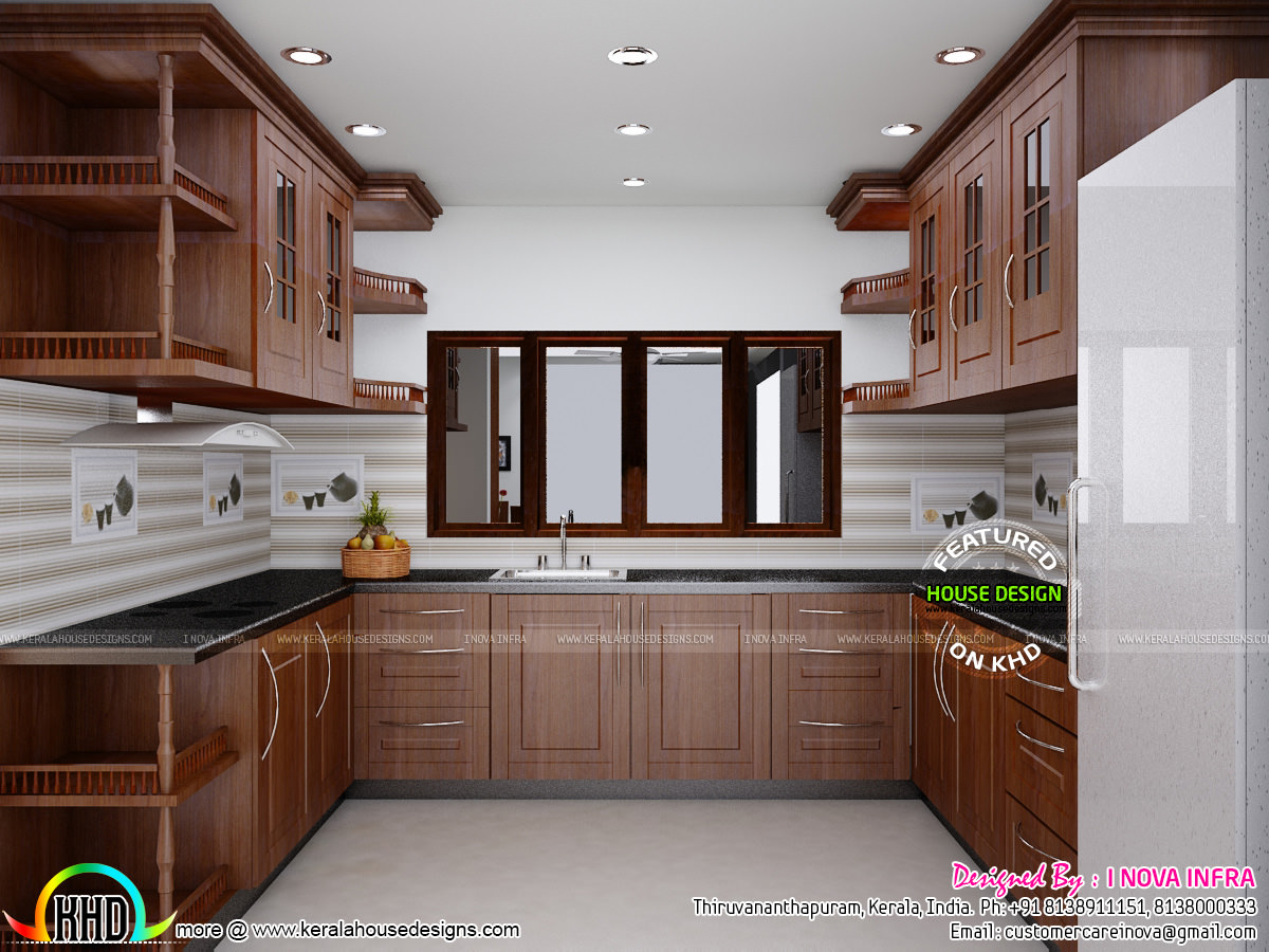 Kerala traditional interiors kerala home design and for Kitchen design kerala