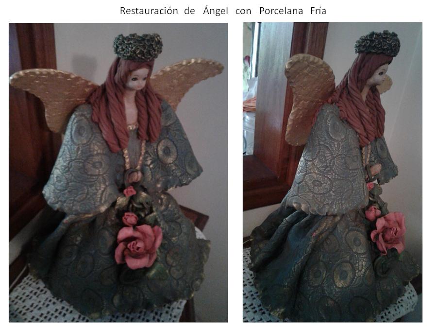 Restauración-de-Angel-con-porcelana-fría