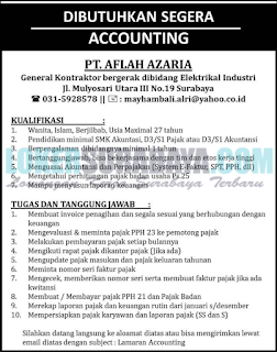 Lowongan Kerja di PT. Aflah Azaria Surabaya Terbaru April 2019