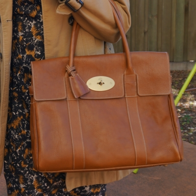 Mulberry Bayswater in Oak NVT leather for the office