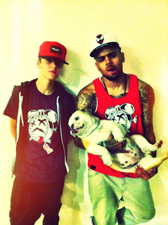 Beliebers United Justin Bieber Poses For Chris Browns Kind Of