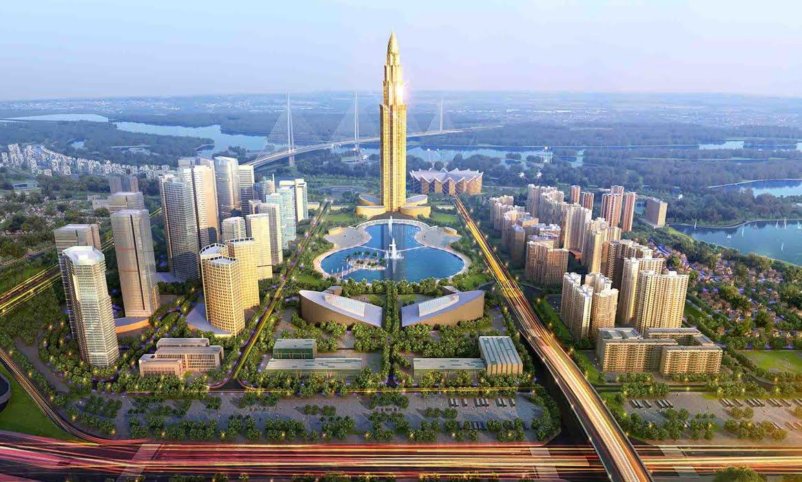 Tháp tài chính Phương Trạch cao 108 tầng tại Hà Nội đang được BRG lập quy hoạch đầu tư