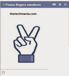 facebook chat emotions Peace Fingers