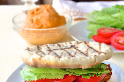 Moroccan Marinated Grilled Chicken Flatbread Burgers Recipe