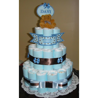 bolo de fralda com nome