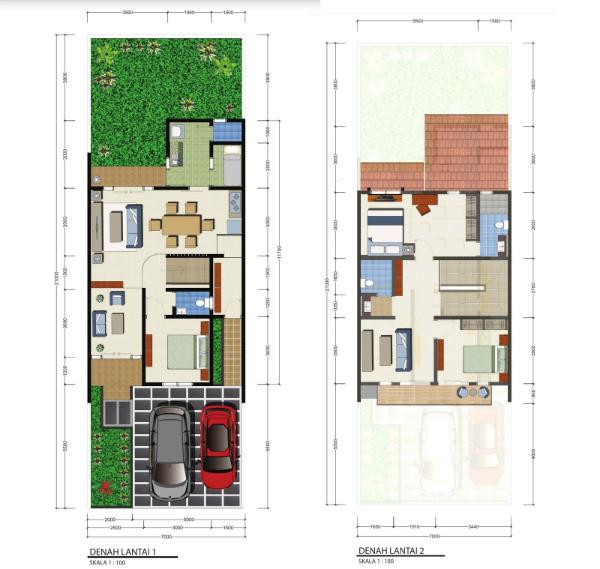 denah-lantai-perumahan-casa-bellevue-residence-bintaro-cluster-exclusive