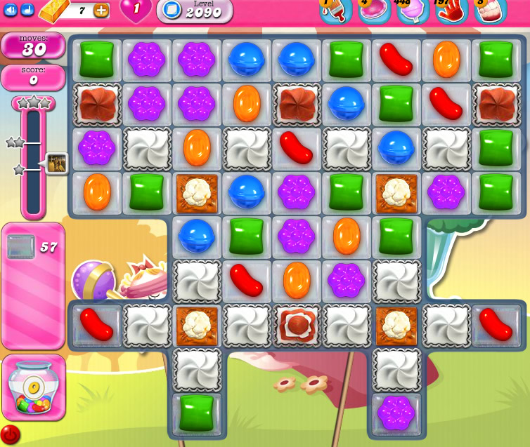 Candy Crush Saga level level 2090