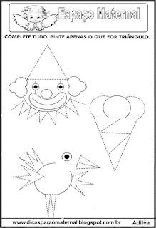 Atividades de geometria pontilhadas