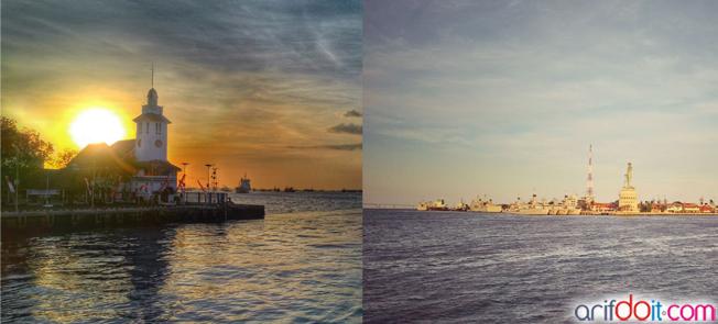"hasil foto ""iseng-iseng dapat object cakep di kapal feri dermaga surabaya"""