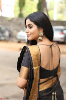 Poorna in Cute Backless Choli Saree Stunning Beauty at Avantika Movie platinum Disc Function ~  Exclusive 049.JPG