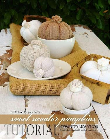 sweet sweater pumpkins, sweater pumpkins, diy sweater pumpkins, tutorial, original sweater pumpkins, no sew sweater pumpkins, fall home decor, diy fall decor, diy pumpkins, pumpkin fall decor