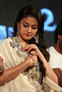 Keerthy Suresh with Cute and Lovely Expressions in White Dress