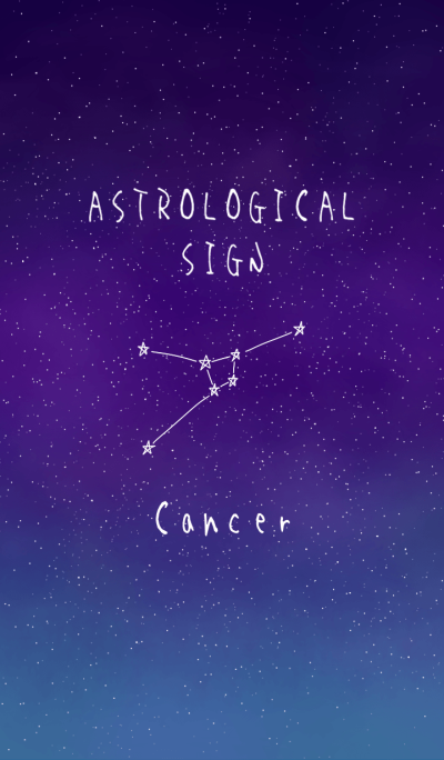 ASTROLOGICAL SIGN.(Cancer)