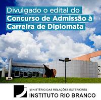 Concurso IRBR - Instituto Rio Branco - Diplomata 2017
