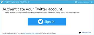 حذف تغريدات تويتر دفعة واحدة