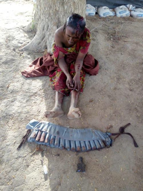 The female suicide bomber on a failed mission