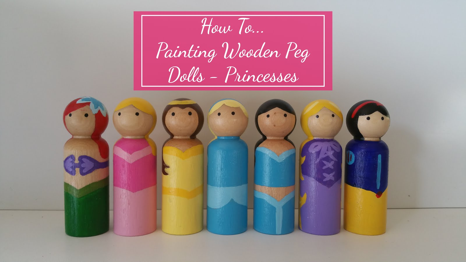 Labelling Chaos How To Painting Wooden Peg Dolls