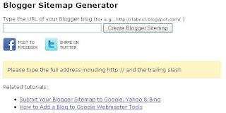 cara buat sitemap blog