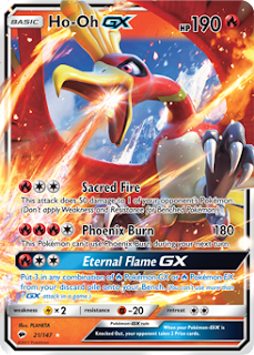Ho-Oh GX Burning Shadows Pokemon Card