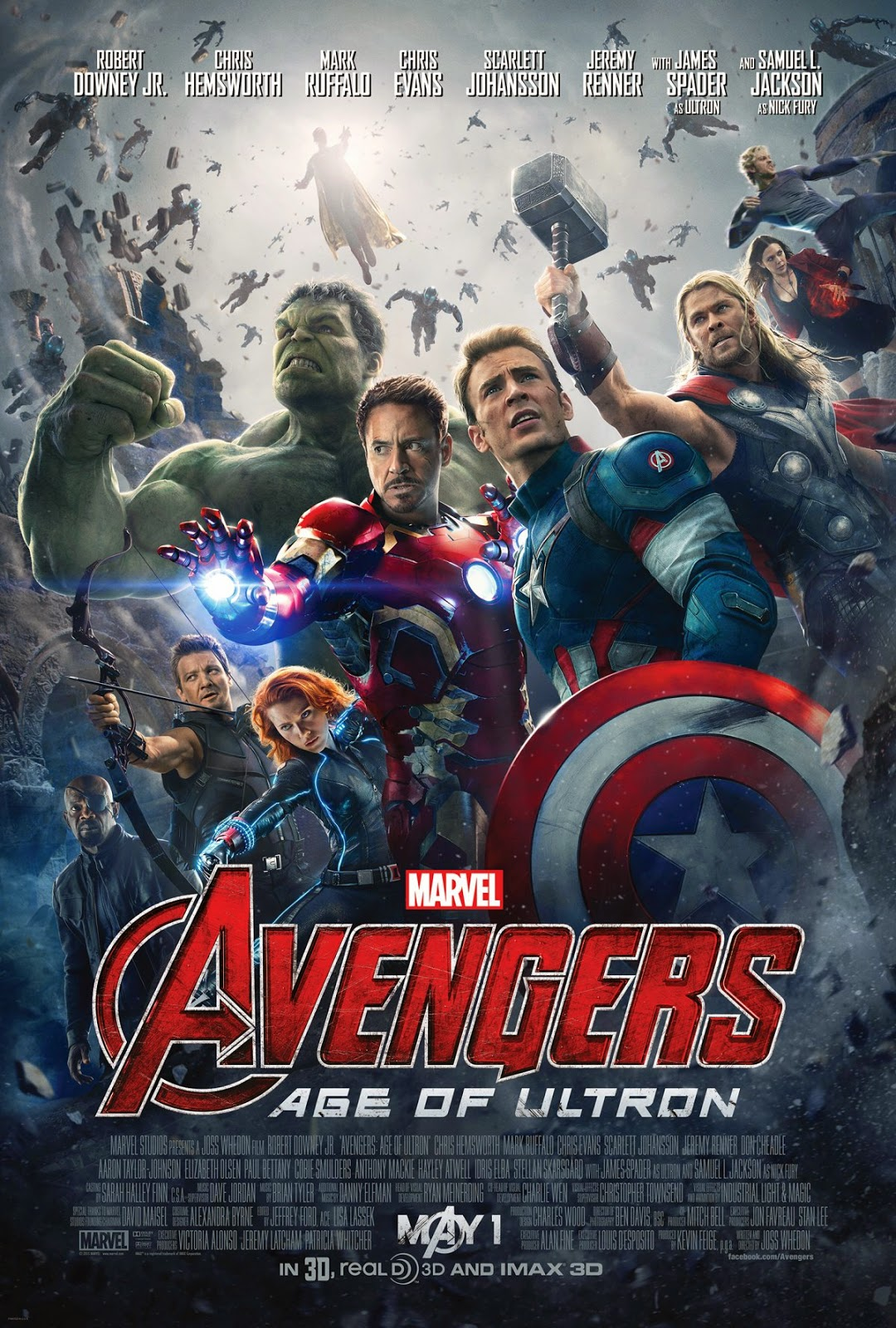 Marvel Avengers Age of Ultron movie poster