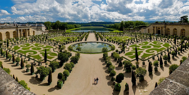 Vista dos Jardins de Versalhes