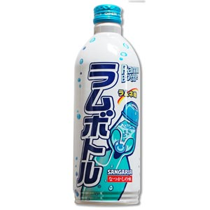 Ramune Soda Metal Bottle