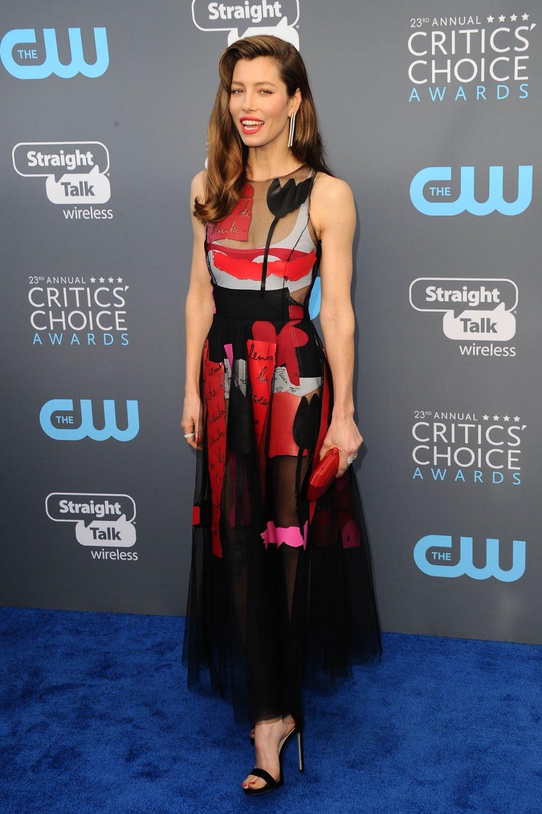Jessica Biel At 2018 critics Choice Awards In Santa Monica