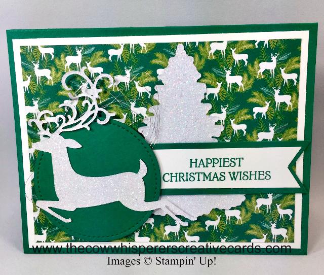 Card, Dashing Deer, Detailed Deer Thinlits, Winter Woods, In the Woods Framelits