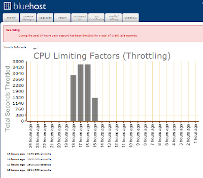 Bluehost throttle the website, my web traffic ain't that high, but still gets throttled!