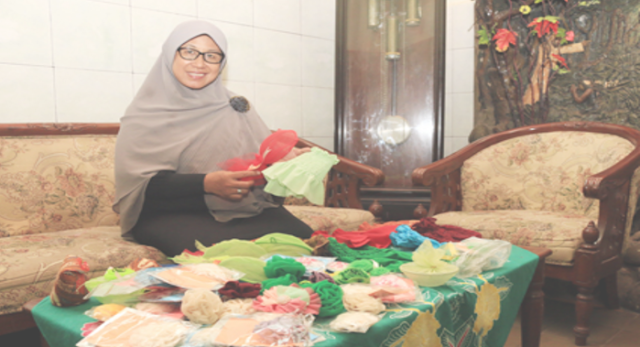 Lilik Jauharotul Wasilah balik kreativitas Bank Sampah Kartika Jaya Kelurahan Brotonegaran