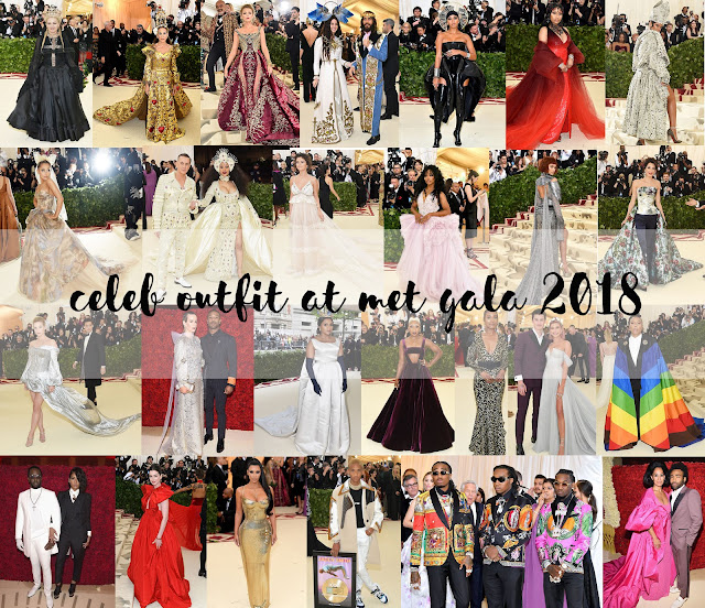 celeb out fit met gala 2018