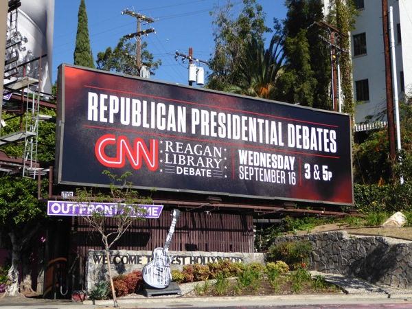 CNN Republican Presidential Debates 2015 billboard