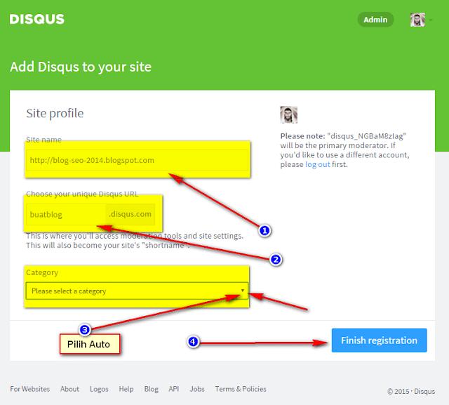 cara memasang kolom komentar disqus di website