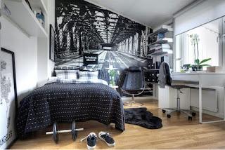 kamar tidur kecil bersih