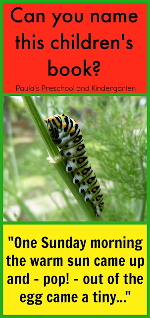 Can You Name This Children's Book?  blog post series by Paula's Preschool and Kindergarten